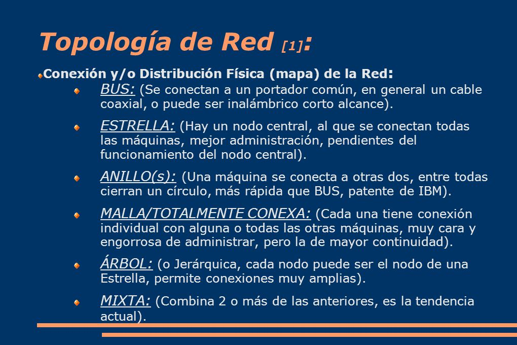 Topología de Red [1]: Conexión y/o Distribución Física (mapa) de la Red: